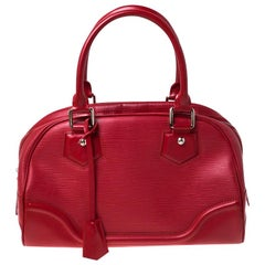 Louis Vuitton Rouge Epi Leather Montaigne PM Bag