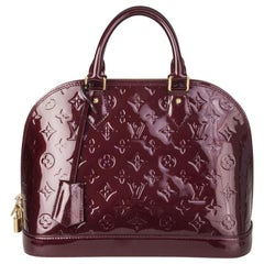 LOUIS VUITTON Rouge Fauvist red Monogram Vernis ALMA PM Bag