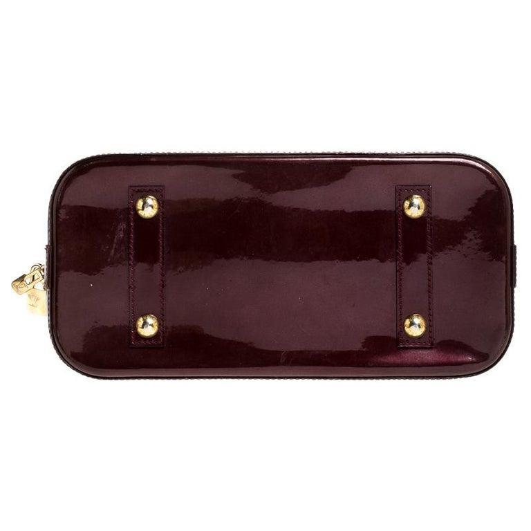 Women's Louis Vuitton Rouge Fauviste Monogram Vernis Alma PM Bag For Sale