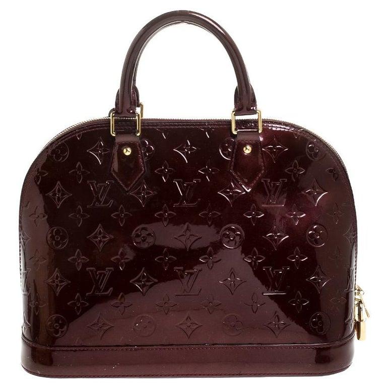 Louis Vuitton Rouge Fauviste Monogram Vernis Alma PM Bag For Sale 1