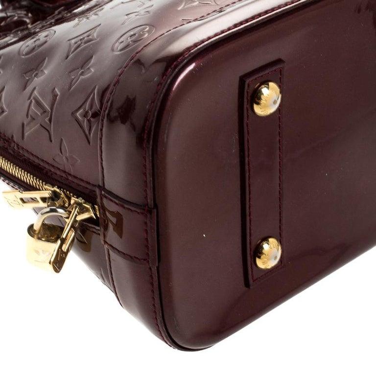 Louis Vuitton Rouge Fauviste Monogram Vernis Alma PM Bag For Sale 2