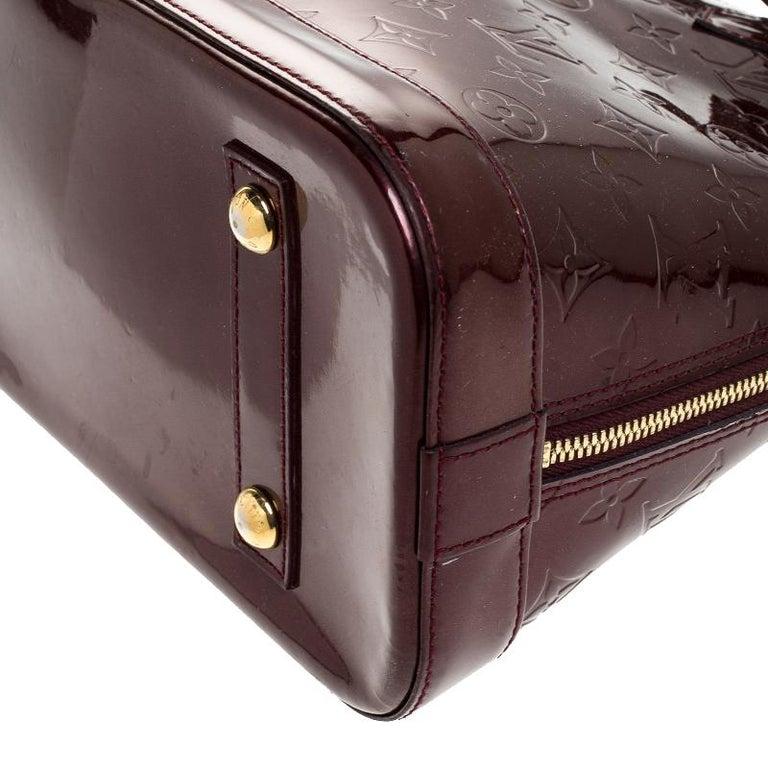Louis Vuitton Rouge Fauviste Monogram Vernis Alma PM Bag For Sale 3