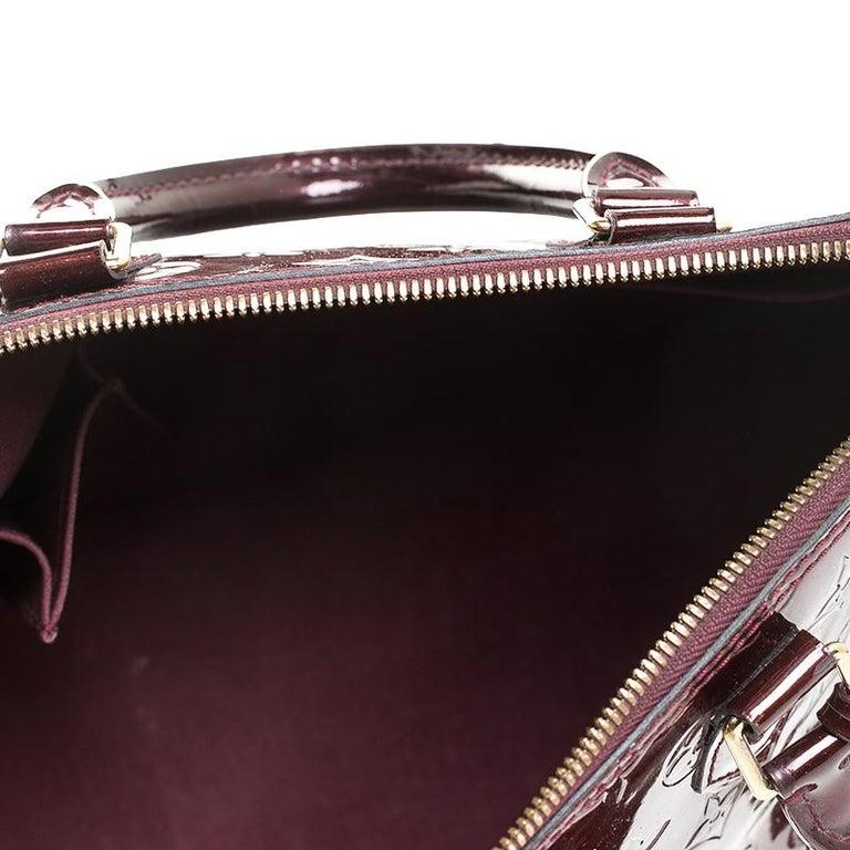 Louis Vuitton Rouge Fauviste Monogram Vernis Alma PM Bag For Sale 5