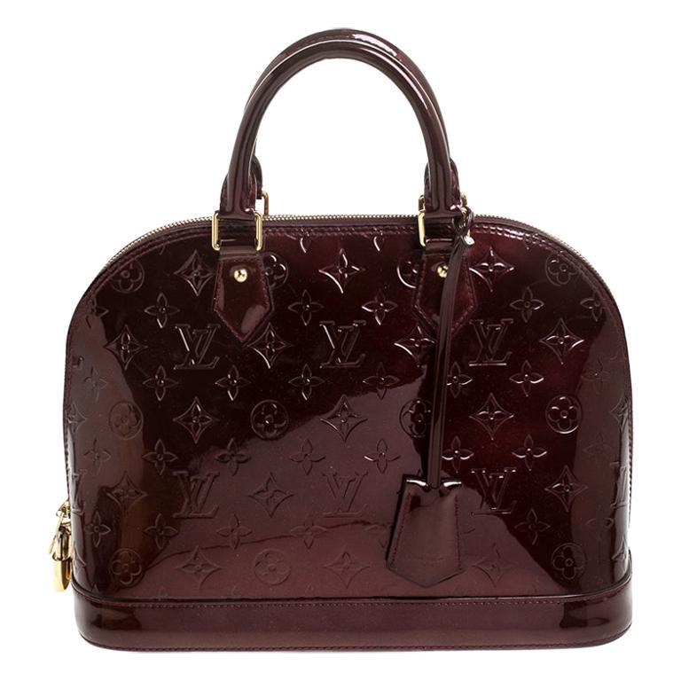 Louis Vuitton Rouge Fauviste Monogram Vernis Alma PM Bag For Sale
