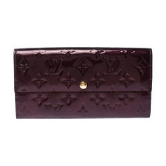 Louis Vuitton Rouge Fauviste Monogram Vernis Sarah Continental Wallet