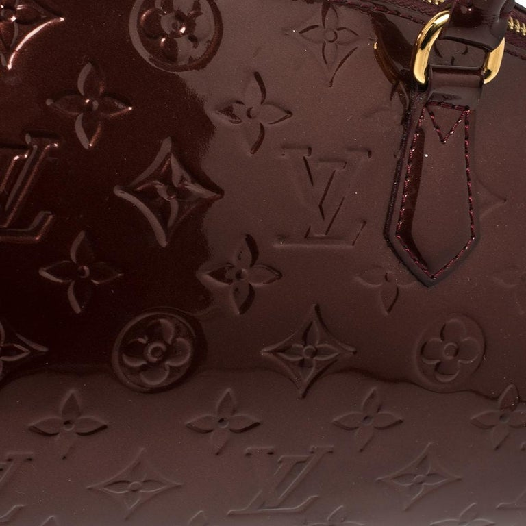Louis Vuitton Rouge Fauviste Monogram Vernis Sherwood PM Bag 6