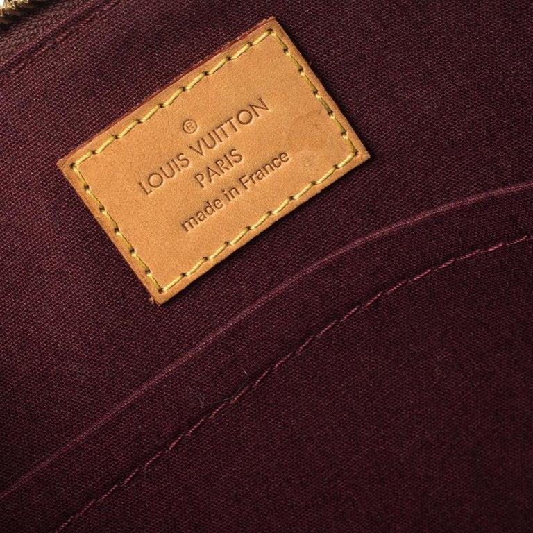 Louis Vuitton Rouge Fauviste Monogram Vernis Sherwood PM Bag 8