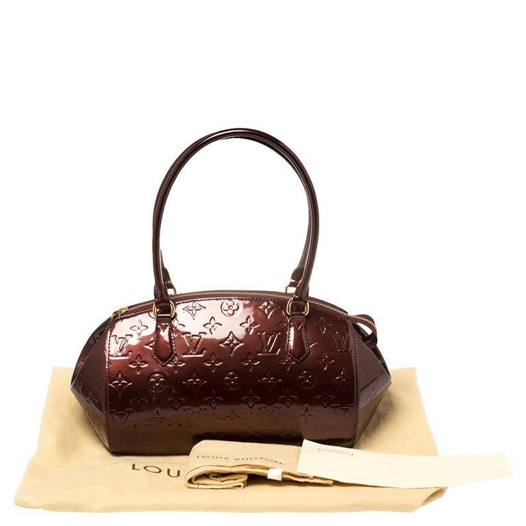 Louis Vuitton Rouge Fauviste Monogram Vernis Sherwood PM Bag 10