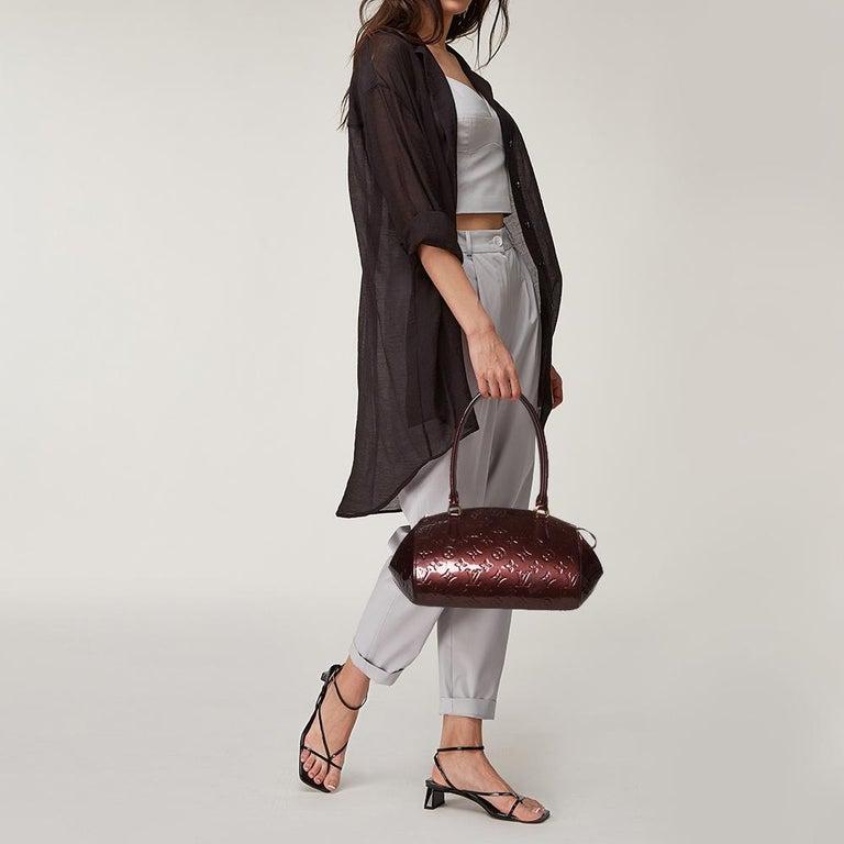 Black Louis Vuitton Rouge Fauviste Monogram Vernis Sherwood PM Bag