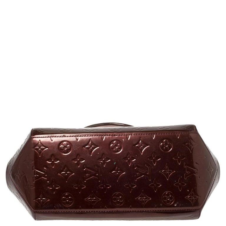 Women's Louis Vuitton Rouge Fauviste Monogram Vernis Sherwood PM Bag