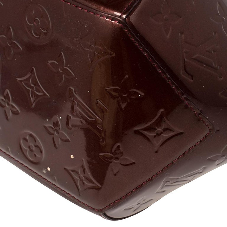 Louis Vuitton Rouge Fauviste Monogram Vernis Sherwood PM Bag 4