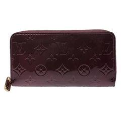 Louis Vuitton Rouge Fauviste Monogram Vernis Zippy Wallet