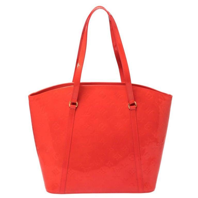 Red Louis Vuitton Rouge Grenadine Monogram Vernis Avalon GM Bag For Sale