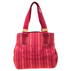 Louis Vuitton Rouge Grenadine Plein Soleil Beach Limited Edition Cabas Bag
