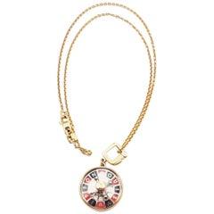 Louis Vuitton Roulette Pendant Yellow Gold Chain Necklace