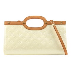 "LOUIS VUITTON ""Roxbury Drive"" Vernes Pearl Monogram Patent Leather Purse Handbag"