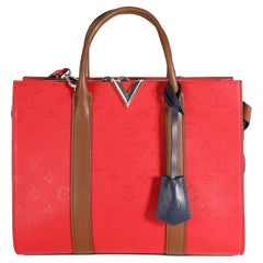 Louis Vuitton Rubis Embossed Monogram Leather Very Tote MM