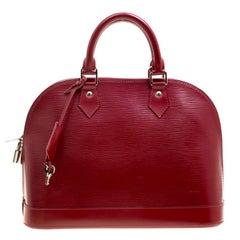Louis Vuitton Rubis Epi Leather Alma PM Bag