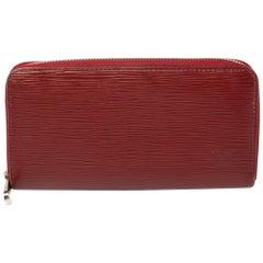 Louis Vuitton Rubis Epi Leather Zippy Wallet