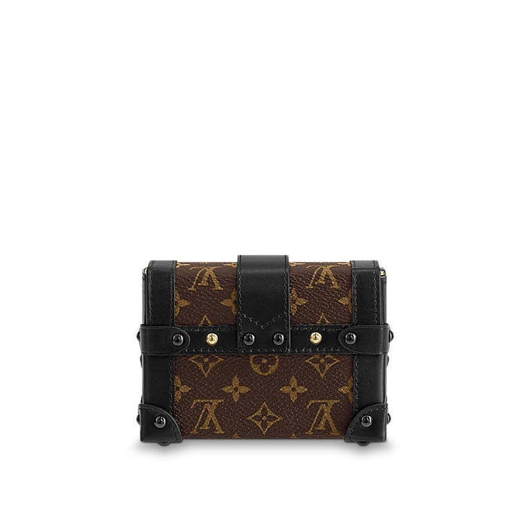 Black Louis Vuitton Runway Miniature Essential Trunk Bag For Sale