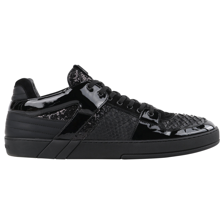 "LOUIS VUITTON S/S 2012 ""Ace"" Python Patent Leather Low Top Mens Athletic Sneaker"