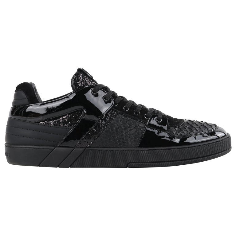 """LOUIS VUITTON S/S 2012 """"Ace"""" Python Patent Leather Low Top Mens Athletic Sneaker For Sale"""