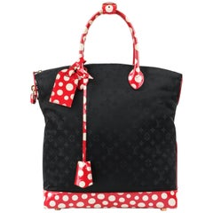 "LOUIS VUITTON S/S 2012 ""Lockit"" MM Vertical Yayoi Kusama Polka Dot Handbag"