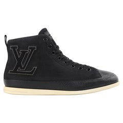 "LOUIS VUITTON S/S 2012 ""Surfside"" Black Nubuck Leather High Top Sneaker Boots"