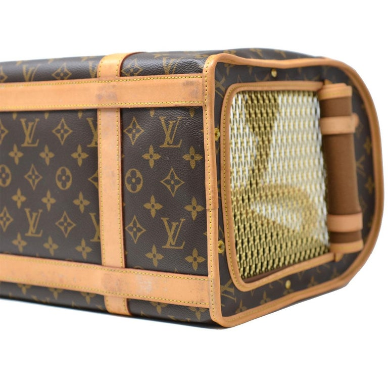 b4e7d979e6dd Louis Vuitton Sac Chien 40 Monogram Dog Pet Carrier Handbag at 1stdibs