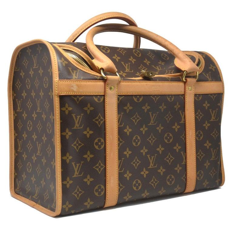 ae6c6512b068 Company-Louis Vuitton Model-Sac Chien 40 Monogram Pet Carrier Handbag  Color-Brown