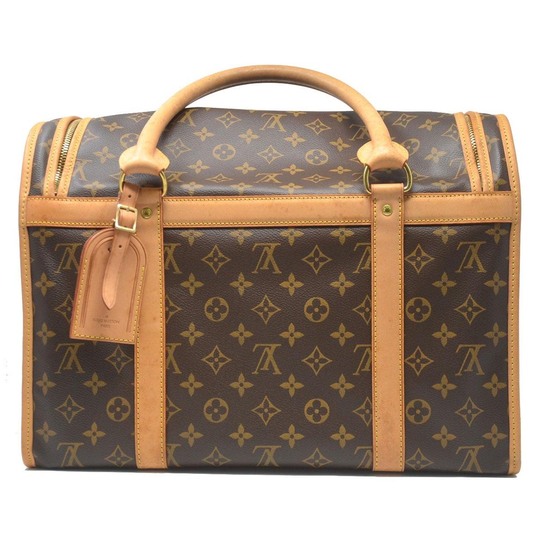 01c091812246 Louis Vuitton Sac Chien 40 Monogram Dog Pet Carrier Handbag at 1stdibs