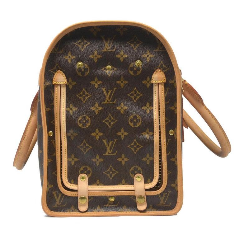 d14c5794e887 Women s or Men s Louis Vuitton Sac Chien 40 Monogram Dog Pet Carrier  Handbag For Sale