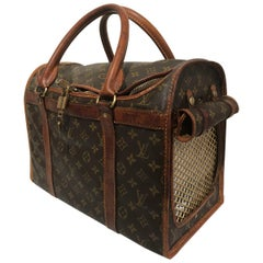 Louis Vuitton Sac de Chien 45 Monogram Dog Carry Case