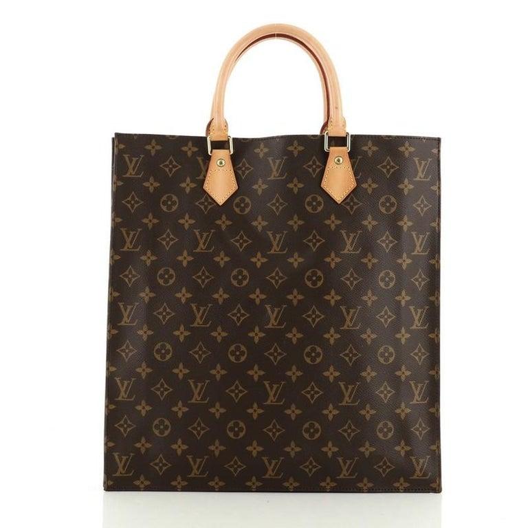 Louis Vuitton Sac Plat Handbag Monogram Canvas GM In Good Condition In New York, NY