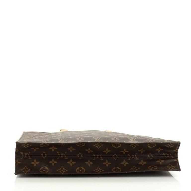 Women's or Men's Louis Vuitton Sac Plat Handbag Monogram Canvas GM