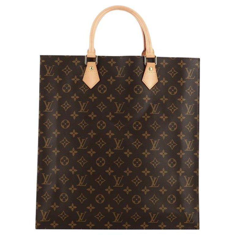 Louis Vuitton Sac Plat Handbag Monogram Canvas GM