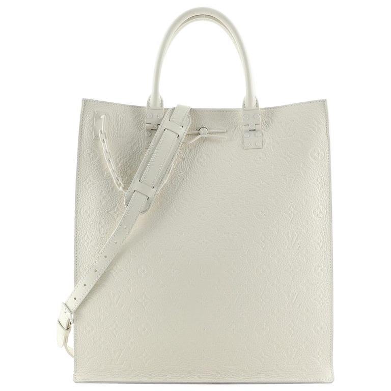 Louis Vuitton Sac Plat Handbag Monogram Taurillon Leather