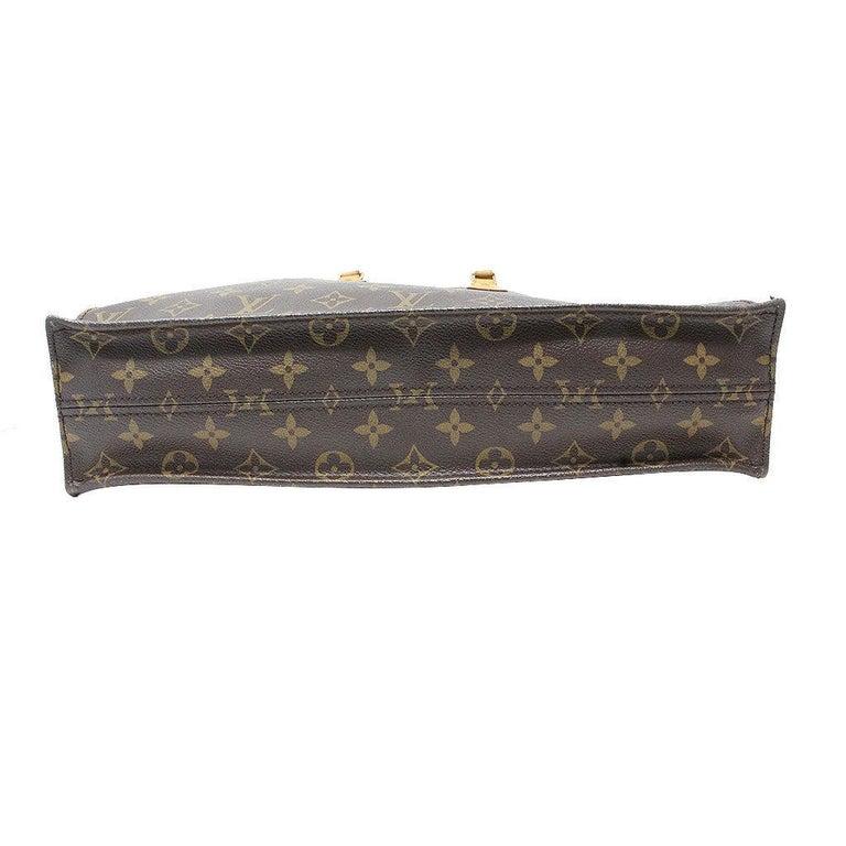 Black Louis Vuitton Sac Plat Monogram Handbag Large Tote For Sale
