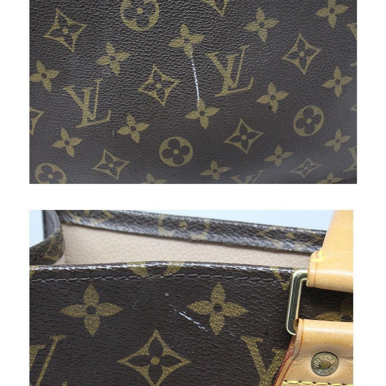 Louis Vuitton Sac Plat Monogram Handbag Large Tote In Good Condition For Sale In Boca Raton, FL