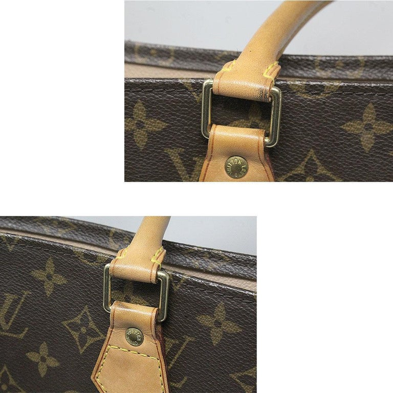Women's or Men's Louis Vuitton Sac Plat Monogram Handbag Large Tote For Sale