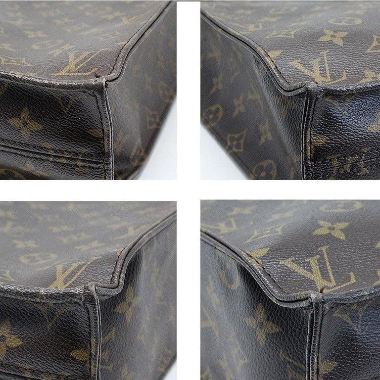 Louis Vuitton Sac Plat Monogram Handbag Large Tote For Sale 1