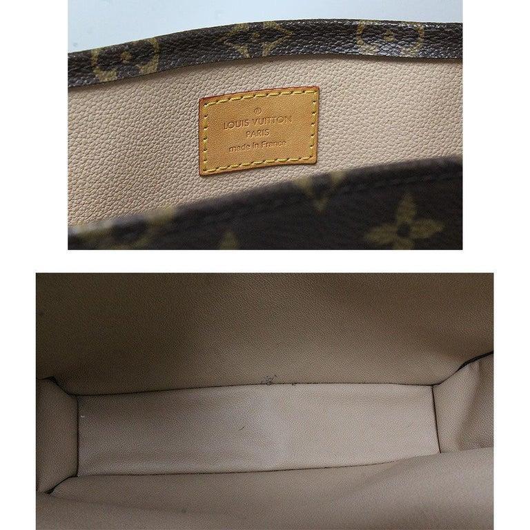 Louis Vuitton Sac Plat Monogram Handbag Large Tote For Sale 2