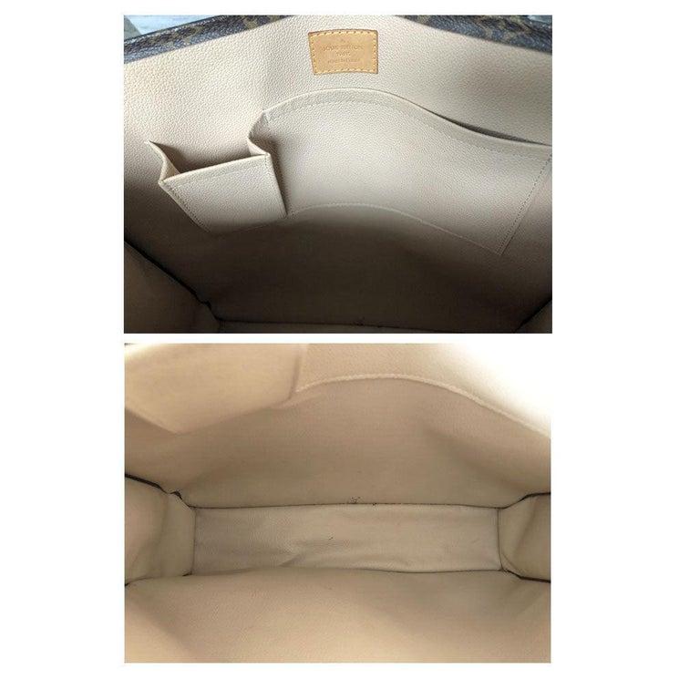Louis Vuitton Sac Plat Monogram Handbag Large Tote For Sale 3