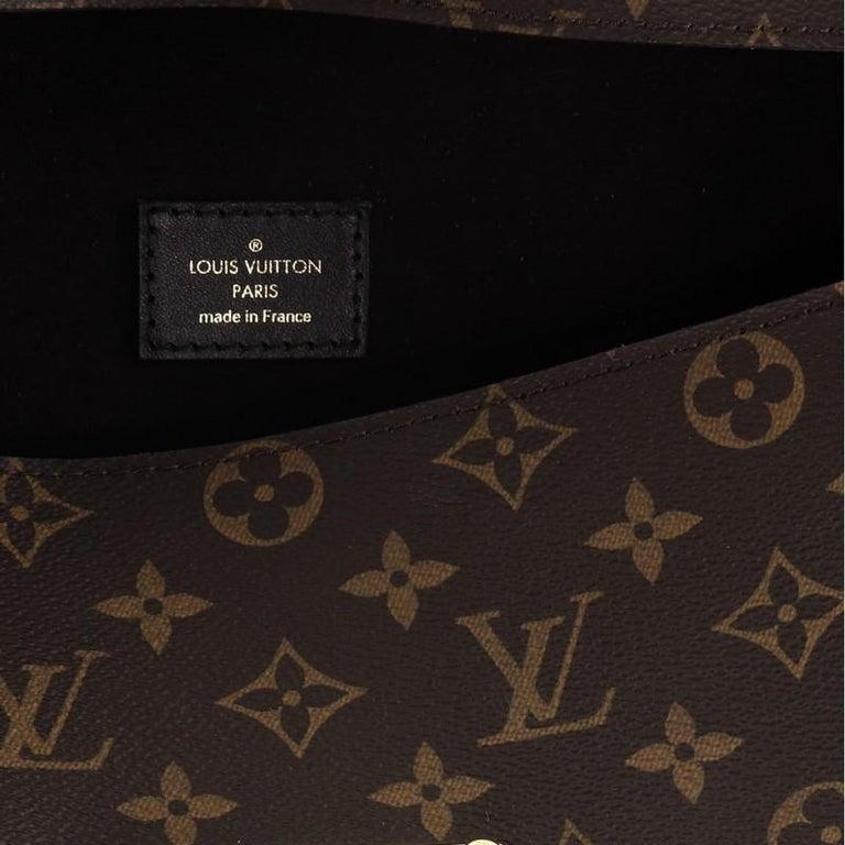 Louis Vuitton Sac Triangle Handbag Monogram Canvas PM For Sale 3