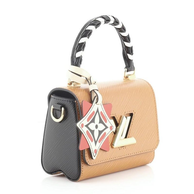Brown  Louis Vuitton Sac Twist Bag Limited Edition Crafty Epi Leather Mini For Sale