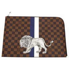 LOUIS VUITTON Safari Checkerboard Clutch