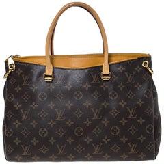 Louis Vuitton Saffran Monogram Canvas Pallas MM Bag
