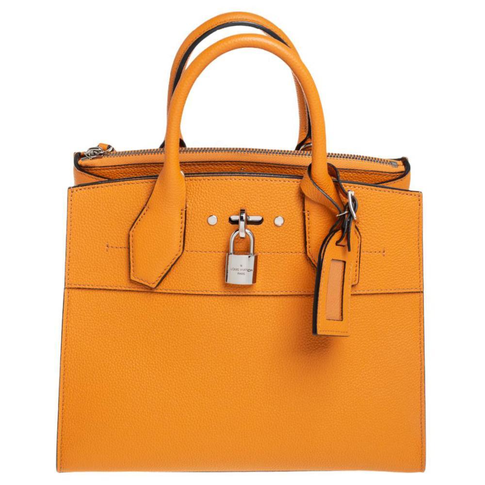 Louis Vuitton Safran Leather City Steamer PM Bag