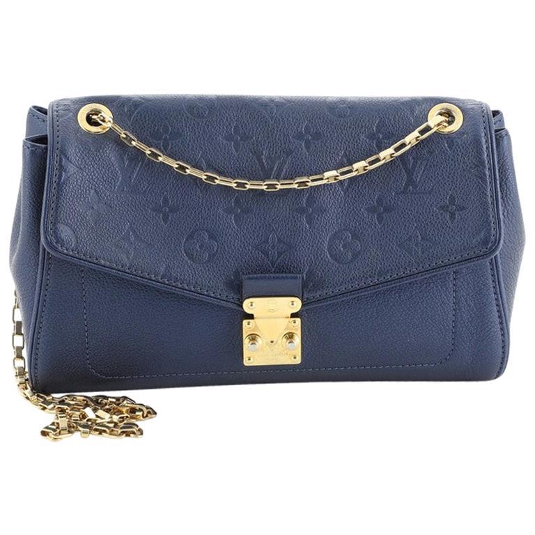 Louis Vuitton Saint Germain Handbag Monogram Empreinte Leather PM For Sale