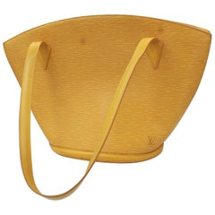 Louis Vuitton Saint Jacques handbag in yellow épi leather